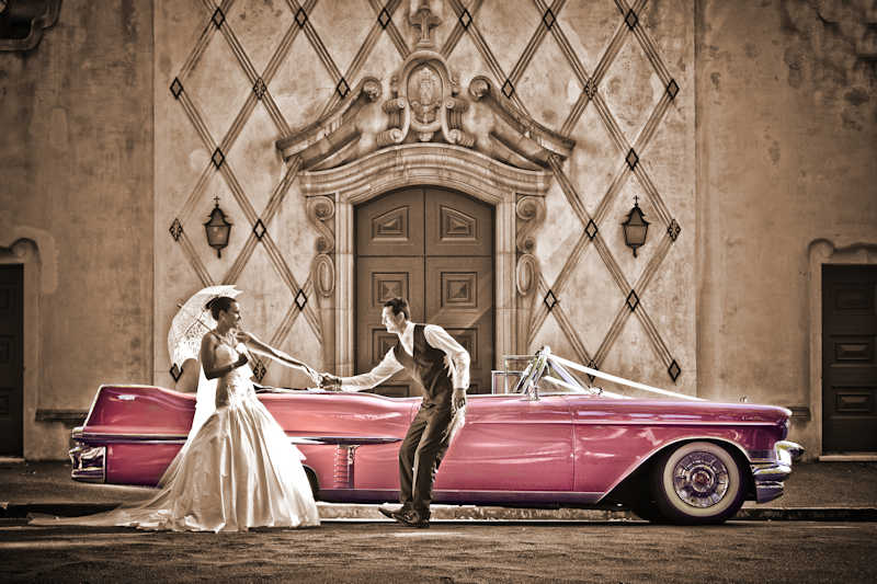 Wedding Car Association - Pink Cadillac - Dezine by Mauro