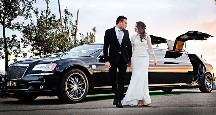 modern wedding car