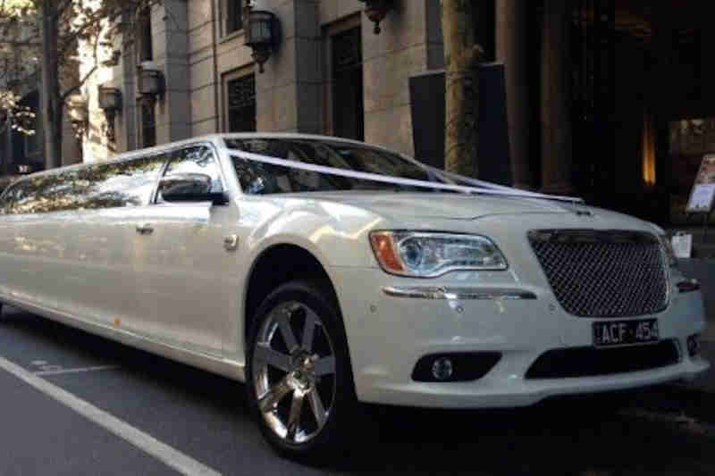 white wedding car hire
