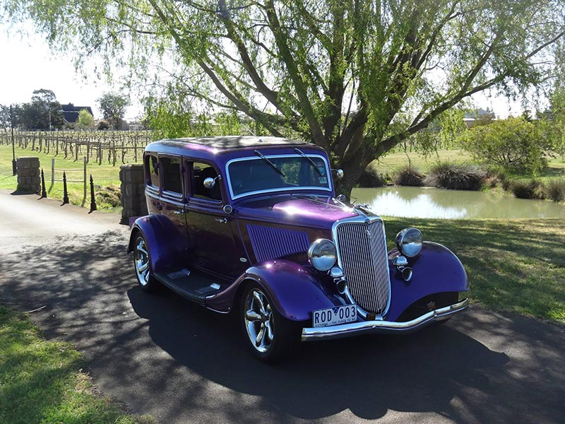 Hot Rod Wedding Transport