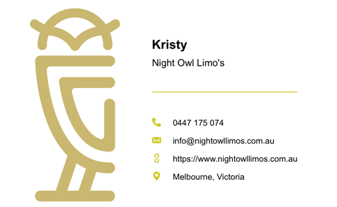 Night Owl Limos logo